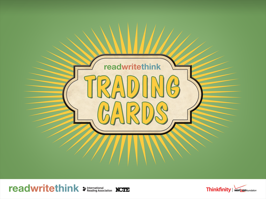 read write think trading cards I saw a post from @rmbyrne recently about a free app from read write think called trading cards it sounded like something i would be interested in, so i.