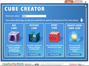 cube creator interactive cube - Readwritethink Resume Generator