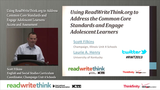 Using ReadWriteThink.org to Address CCSS and Engage Adolescent Learners: Access and Assessment