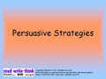 Persuasive Strategies PowerPoint Presentation