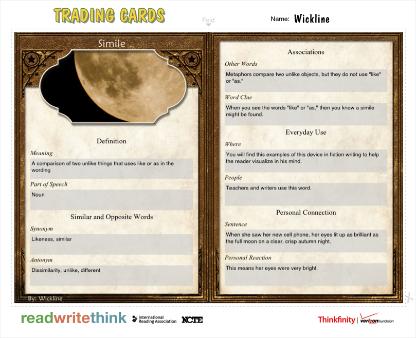 Using Mobile Devices To Illustrate Literary Devices  Readwritethink