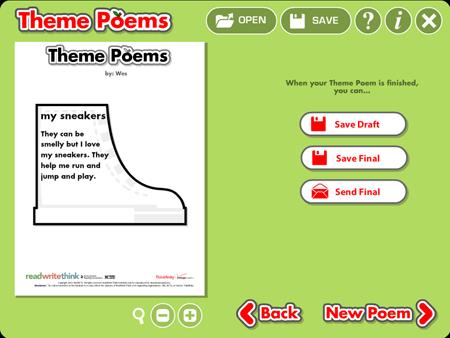 Writing summer poems.